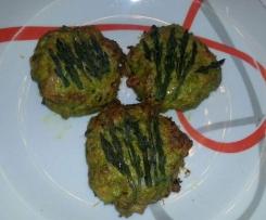Polpette di pollo e asparagi