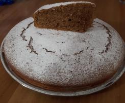 Variante di torta al caffè (con farina integrale e senza lattosio)