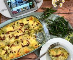 Lasagne agli asparagi , bruscandoli e speck