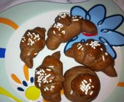 Cornetti al cacao con nutella