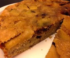 RICETTE DI NATALE - Torta rovesciata di mele e nutella della blogger Sara