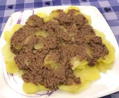 Carpaccio  di patate con salsa tapenade