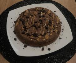 Torta Proteica Banana e Cioccolato