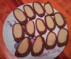 Biscotti bicolore all'arancia e cioccolato