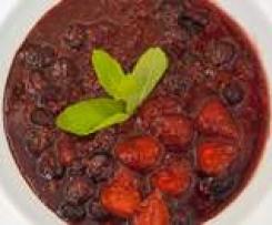 Panna cotta con composta di frutti di bosco calda - della blogger Cristina