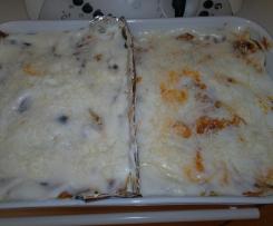 Doppia teglia di lasagne di carne e verdure
