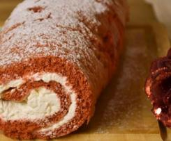Variante di Rotolo di pasta biscotto rosso (rotolo red velvet - san valentino)
