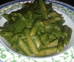 Pasta risottata con crema di spinaci