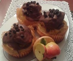 Muffins al calvados, mele e glassa di cioccolato croccante - Contest -