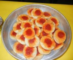 pizzette da buffet con pasta madre
