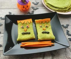 Crepes verdi spaventose per Halloween senza glutine