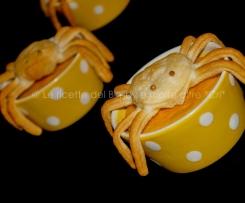 HALLOWEEN - Flan di zucca e carote e un ragnetto dispettoso della blogger Cristina