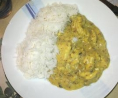 pollo alle nocciole e curry
