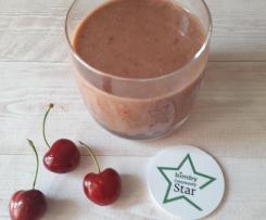 Frullato di ciliegie e cocco con zuccheri alternativi - contest 7 ingredienti