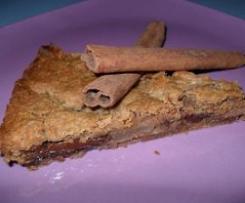torta soffice farina di castagne cioccolato e pere