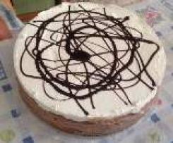 Torta golosona al triplo strato di pan di spagna nutella e croccante
