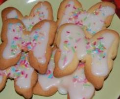 Biscottini farfalla glassati e colorati