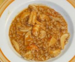 Zuppa di farro con seppia