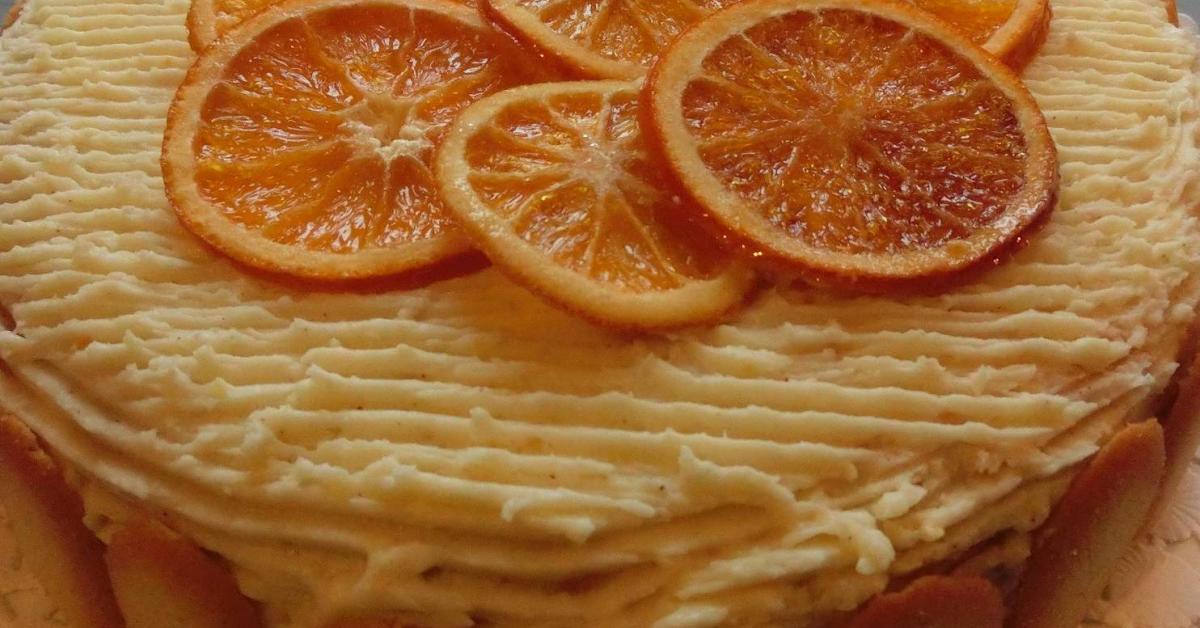 Torta della festa all 39 arancia pan di spagna crema e - Glassa a specchio su pan di spagna ...