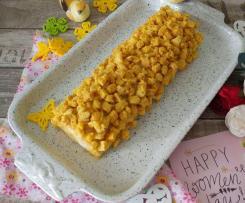 Rotolo di torta mimosa senza glutine e senza latticini