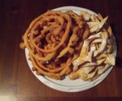 Frittelle con l'imbuto (frisciolas)