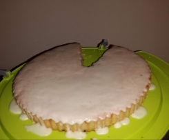TORTA ALL'ACQUA CON GLASSA AL LIMONE