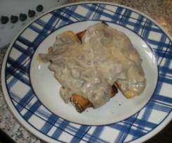 crostoni ai funghi champignon