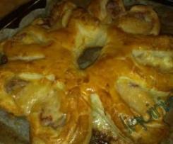 SOLE  ripieno di prosciutto e formaggio( svuotafrigo)