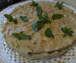 torta salata al basilico e robiola estiva senza cottura