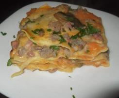 lasagna con crema di zucca