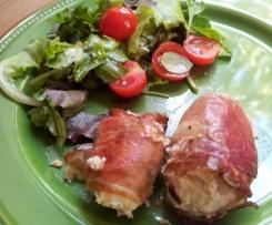 Bocconotti di pollo-ricotta pancettati