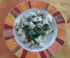Gnocchi di patate e rucola
