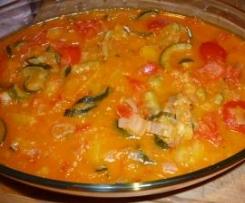 Peperonata con zucchine