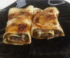 Crepes farcite caramellate
