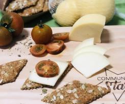 Cracker con farina multicereali e fiocchi d'avena