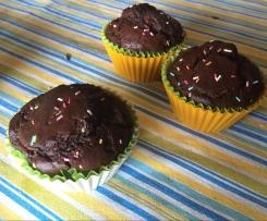 Muffin al cioccolato e zucchine