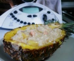 Risotto ananas e gamberetti