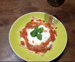 Lasagnetta di CARASAU dai colori italiani / contest tricolore/