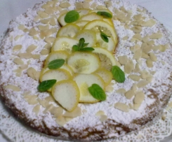 Torta Caprese al cioccolato bianco