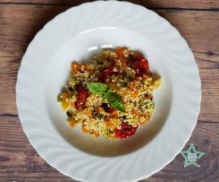 Cous cous con verdure insaporite e pomodorini per TM6
