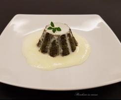 Sformato di bietole e spinaci con crema di taleggio