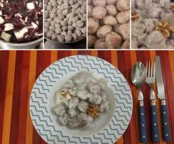 Gnocchi al radicchio rosso con salsa al gorgonzola e noci (CONTEST GNOCCHI)