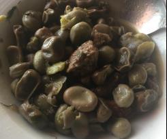 Favette fresche con salsiccia ( Faixedda cun sartizzu)