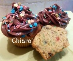 Funfetti cupcake con frosting alla crema gianduia (contest)