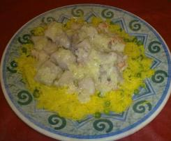 Bocconcini di  pesce persico con riso basmati
