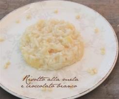 RICETTE DI NATALE - Risotto alla mela e cioccolato bianco della blogger Cinzia
