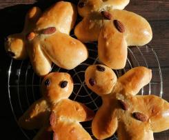 Omini di pan brioche (Weckmännchen)
