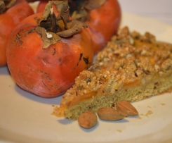 Crostata ai cachi con pasta frolla all'olio EVO