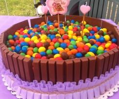 Torta Kit Kat & m&m's