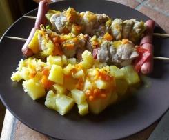 Spiedini al varoma con patate